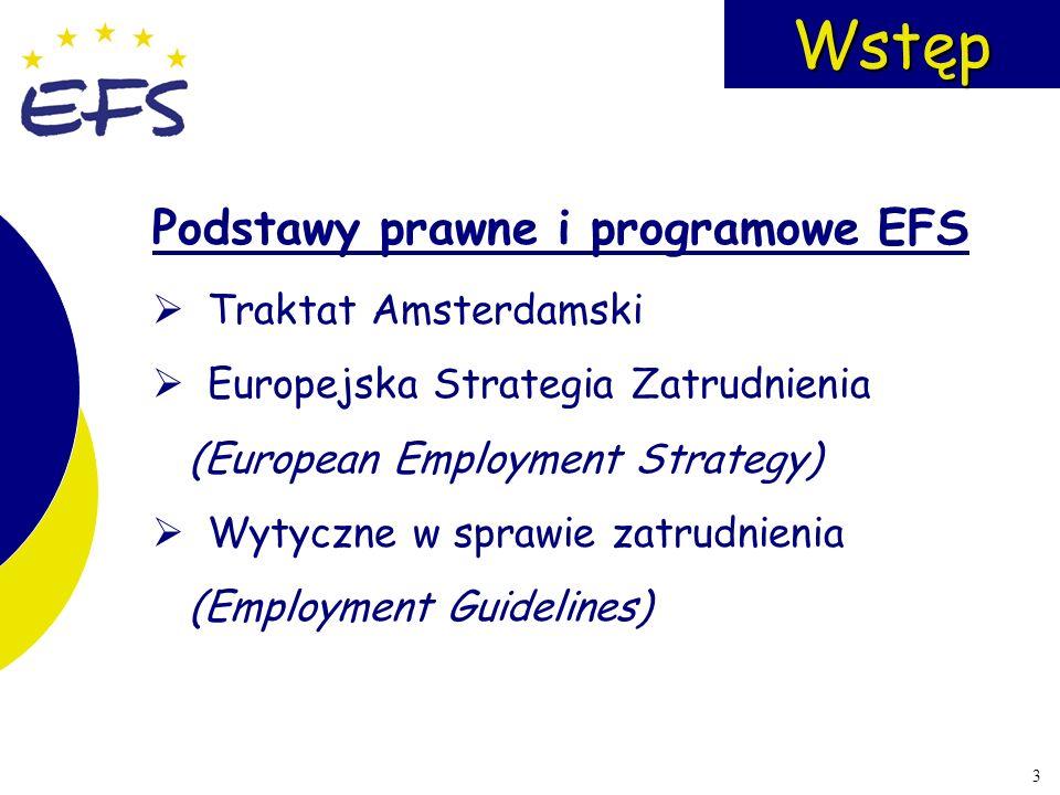 Wstęp Podstawy prawne i programowe EFS Traktat Amsterdamski