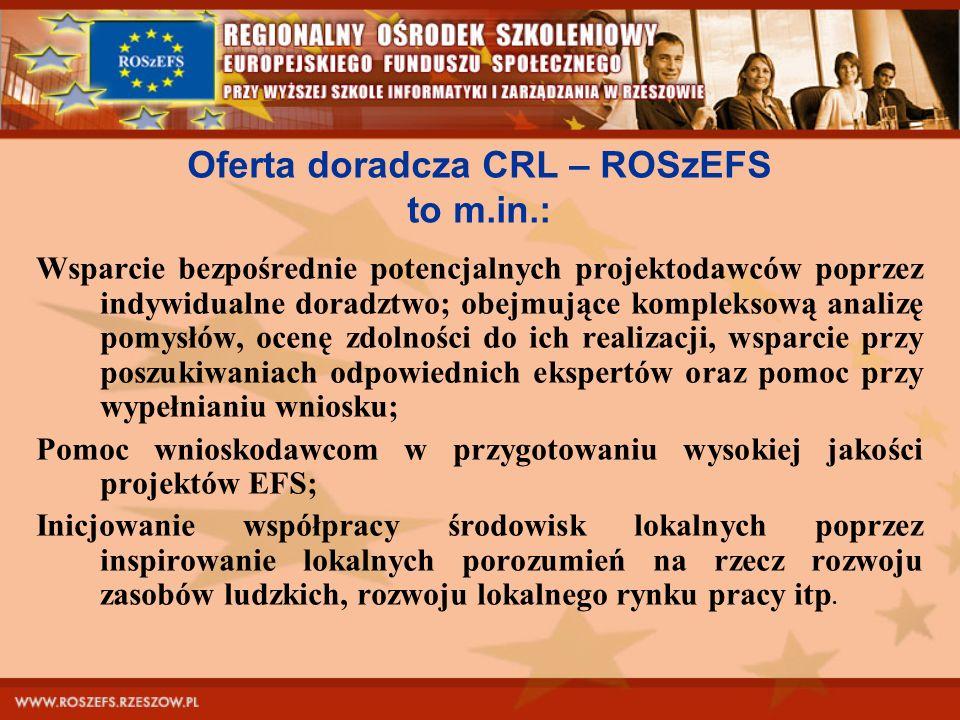 Oferta doradcza CRL – ROSzEFS to m.in.: