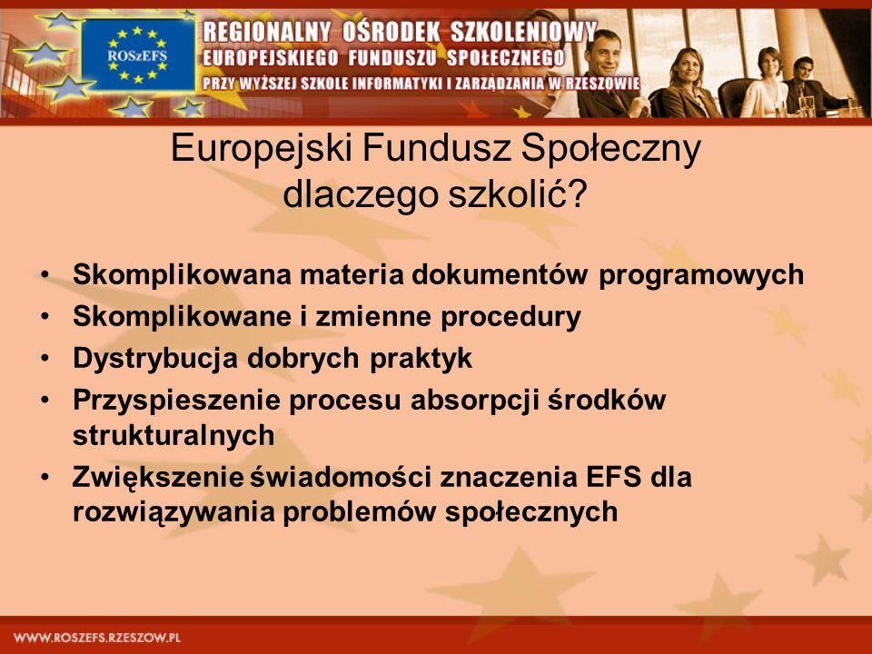 Europejski Fundusz Społeczny dlaczego szkolić