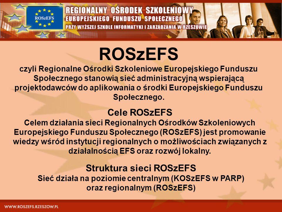 ROSzEFS Cele ROSzEFS Struktura sieci ROSzEFS