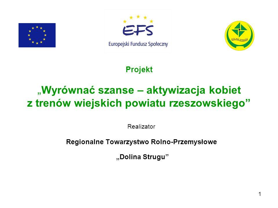 """Realizator Regionalne Towarzystwo Rolno-Przemysłowe """"Dolina Strugu"""
