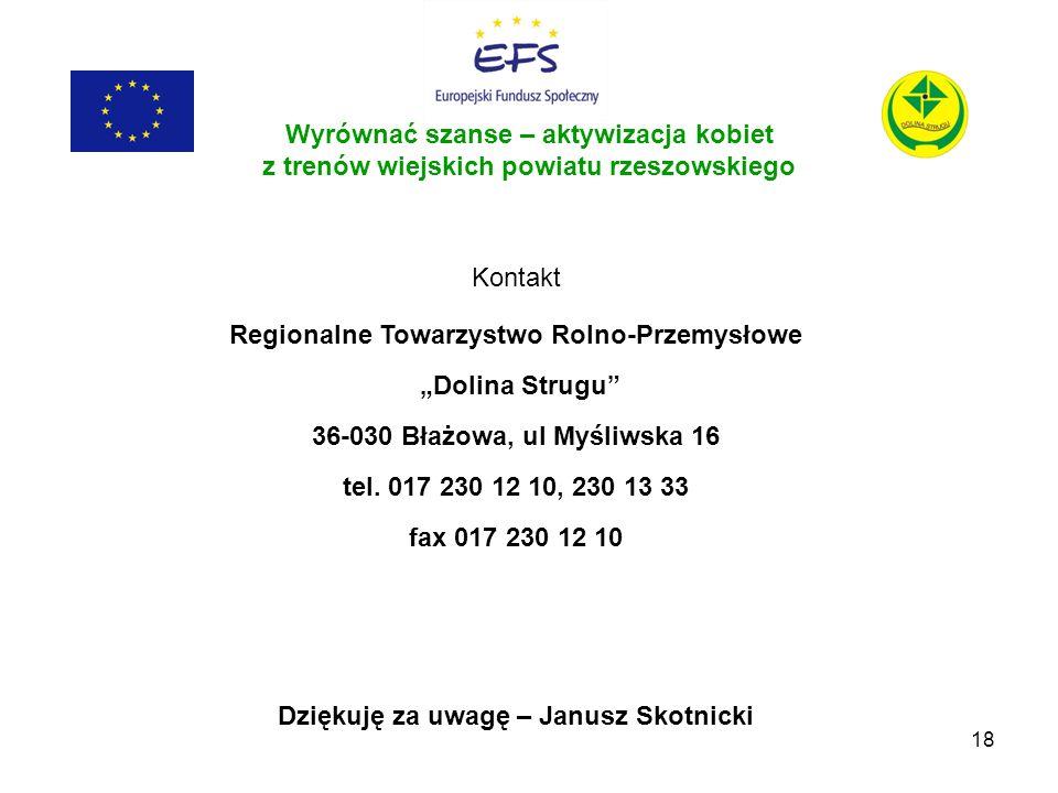 """Regionalne Towarzystwo Rolno-Przemysłowe """"Dolina Strugu"""