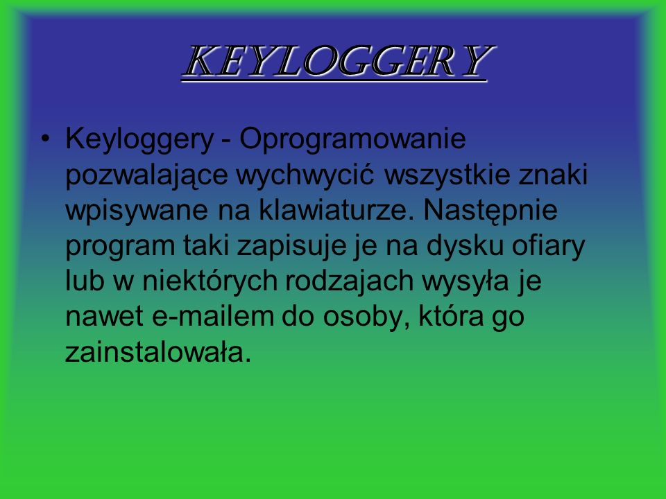 Keyloggery