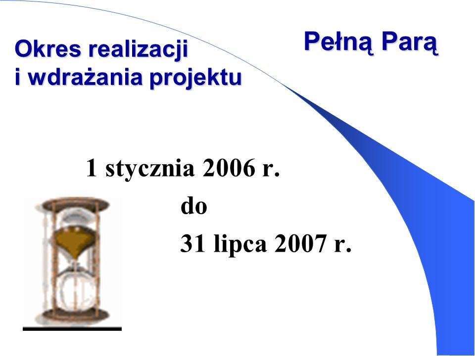 Pełną Parą 1 stycznia 2006 r. do 31 lipca 2007 r.