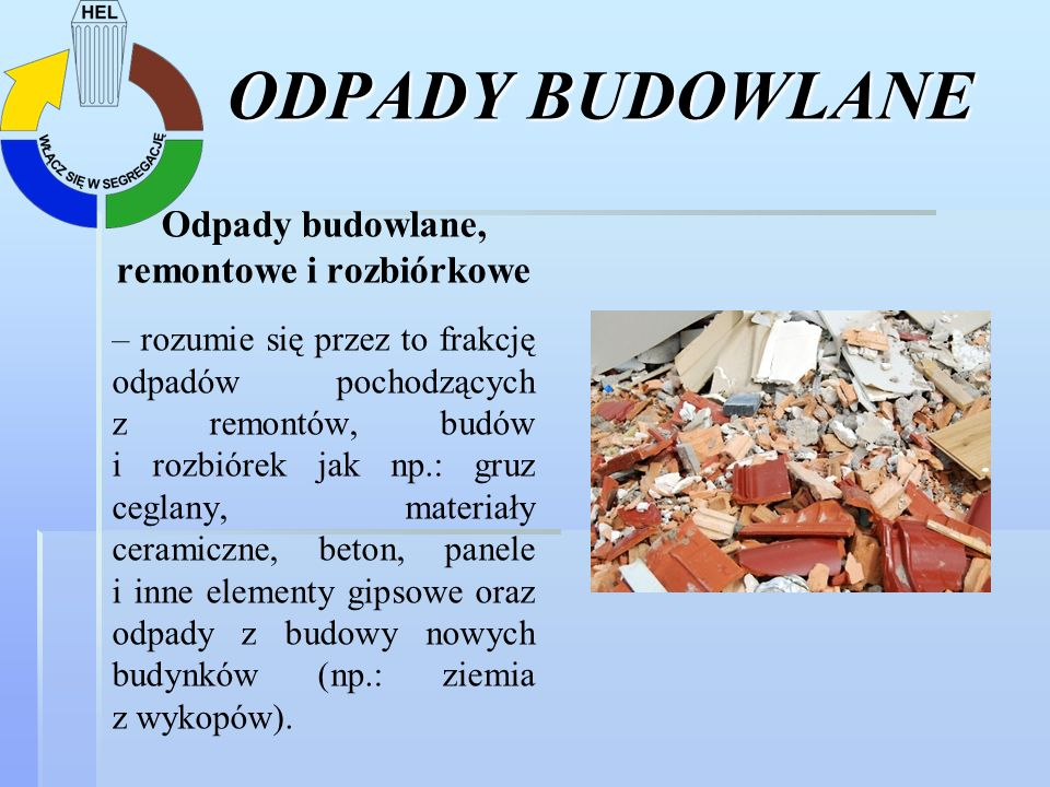 Odpady budowlane, remontowe i rozbiórkowe