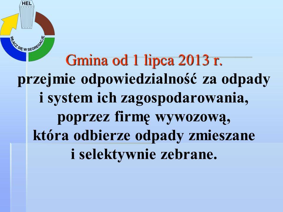 Gmina od 1 lipca 2013 r.