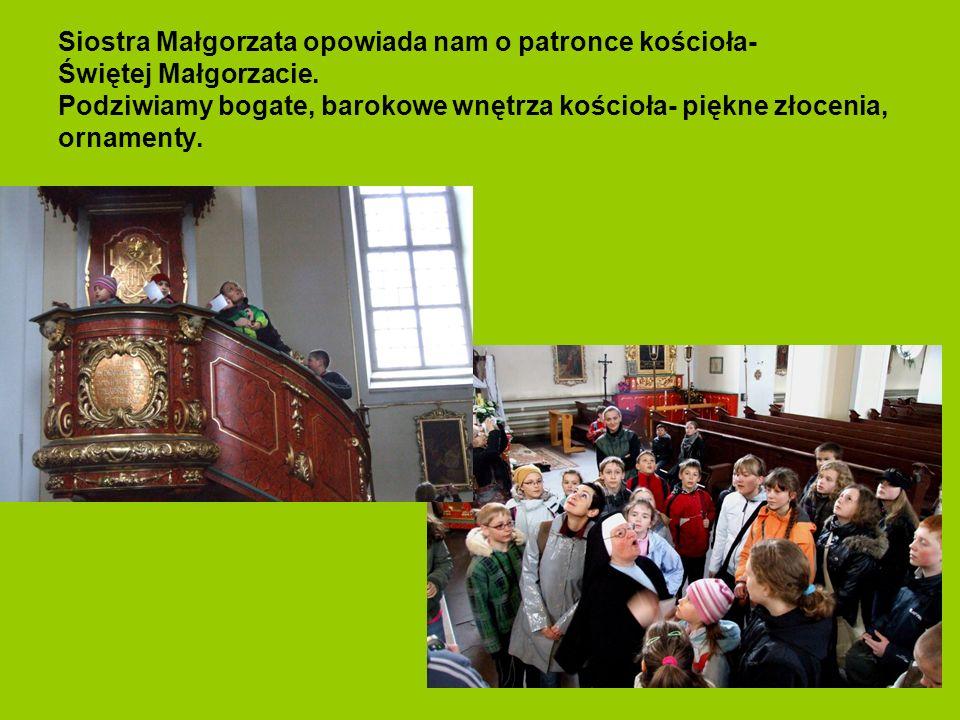 Siostra Małgorzata opowiada nam o patronce kościoła- Świętej Małgorzacie.