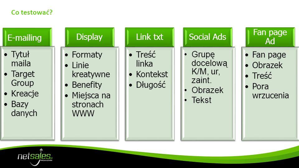 Miejsca na stronach WWW Link txt Treść linka Kontekst Długość