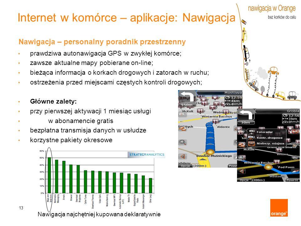 Internet w komórce – aplikacje: Nawigacja