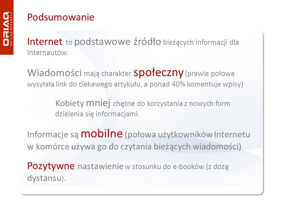 Internet to podstawowe źródło bieżących informacji dla Internautów.