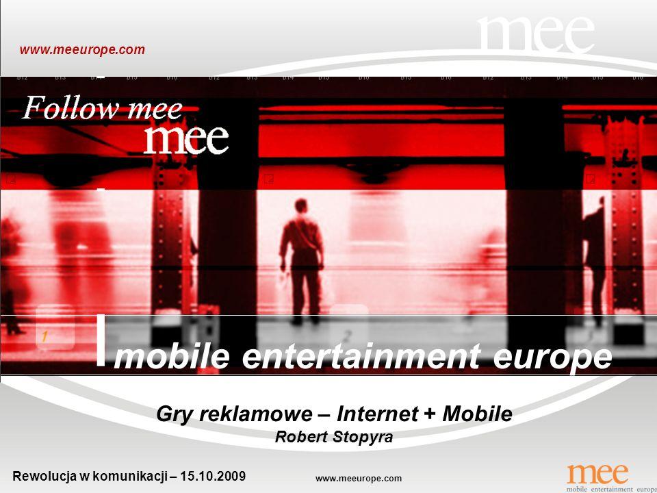 Gry reklamowe – Internet + Mobile Rewolucja w komunikacji – 15.10.2009