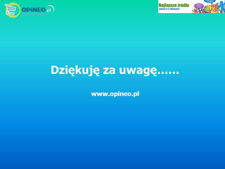 Dziękuję za uwagę…… www.opineo.pl