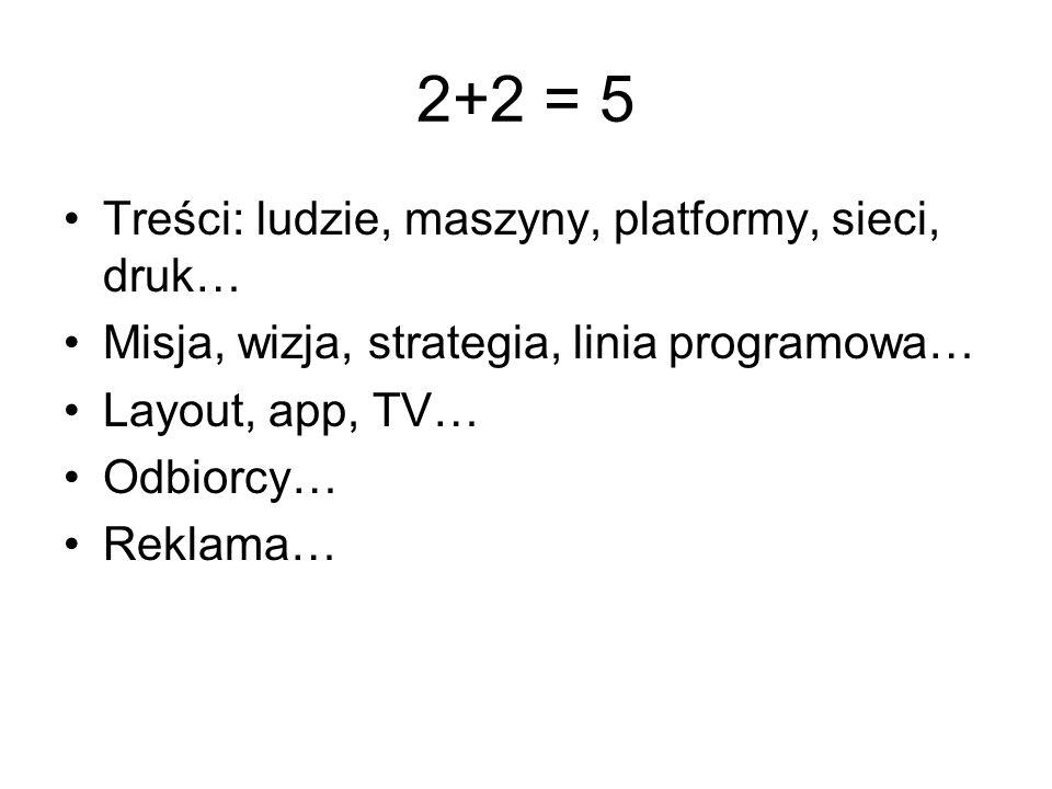 2+2 = 5 Treści: ludzie, maszyny, platformy, sieci, druk…