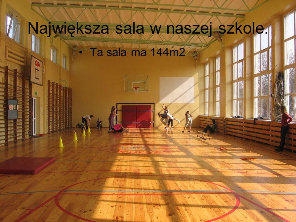 Największa sala w naszej szkole.