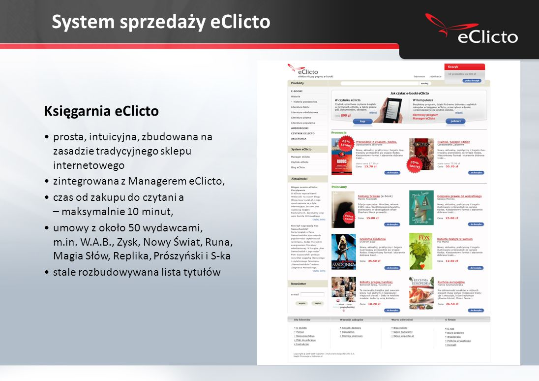 System sprzedaży eClicto