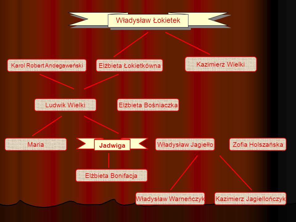 Władysław Łokietek Kazimierz Wielki Elżbieta Łokietkówna Ludwik Wielki