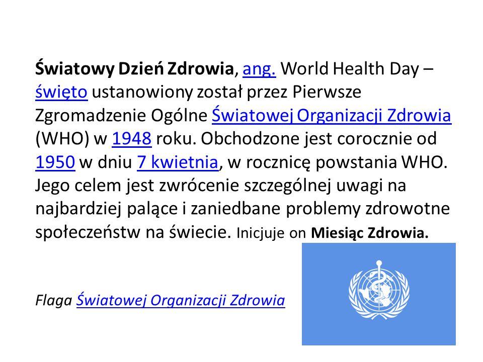 Światowy Dzień Zdrowia, ang