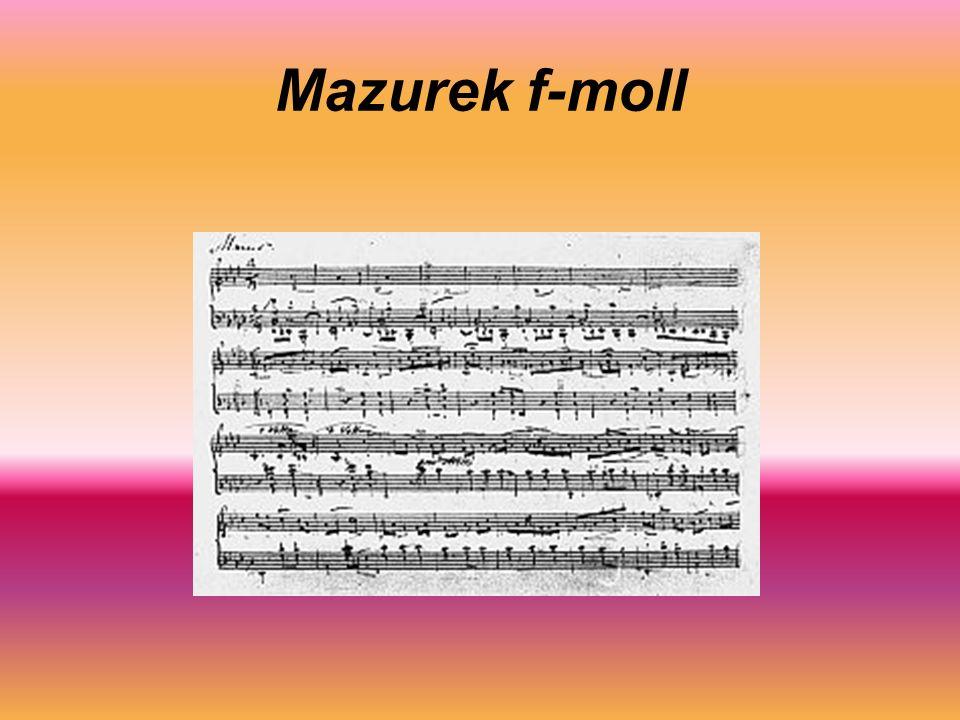 Mazurek f-moll
