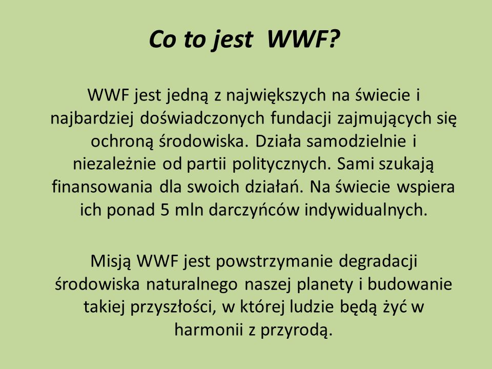 Co to jest WWF
