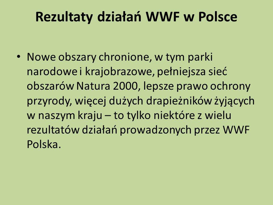 Rezultaty działań WWF w Polsce