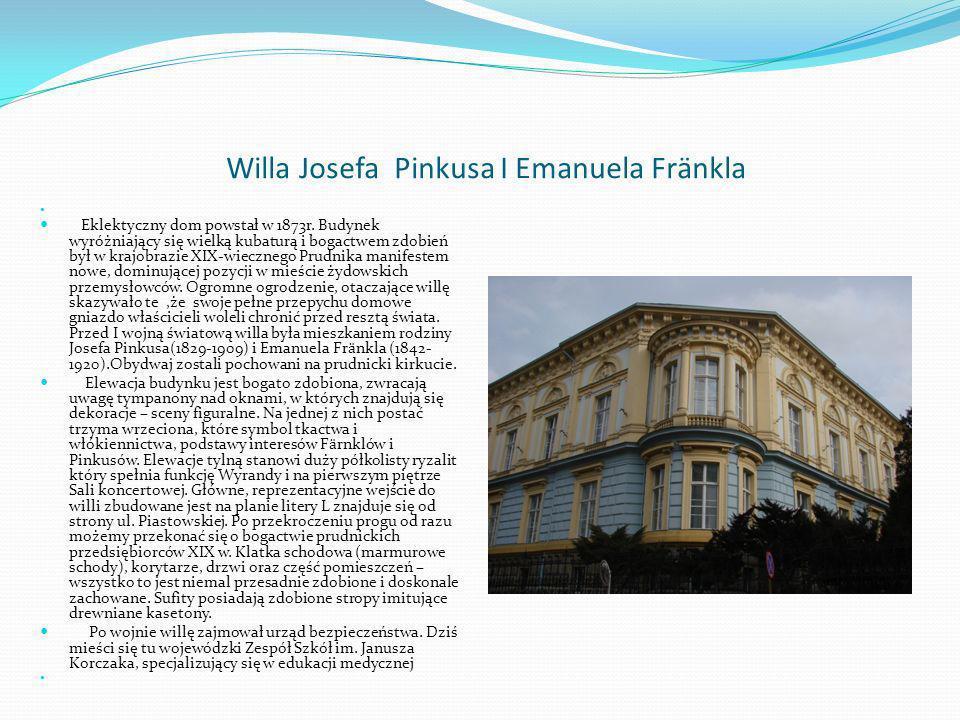 Willa Josefa Pinkusa I Emanuela Frӓnkla