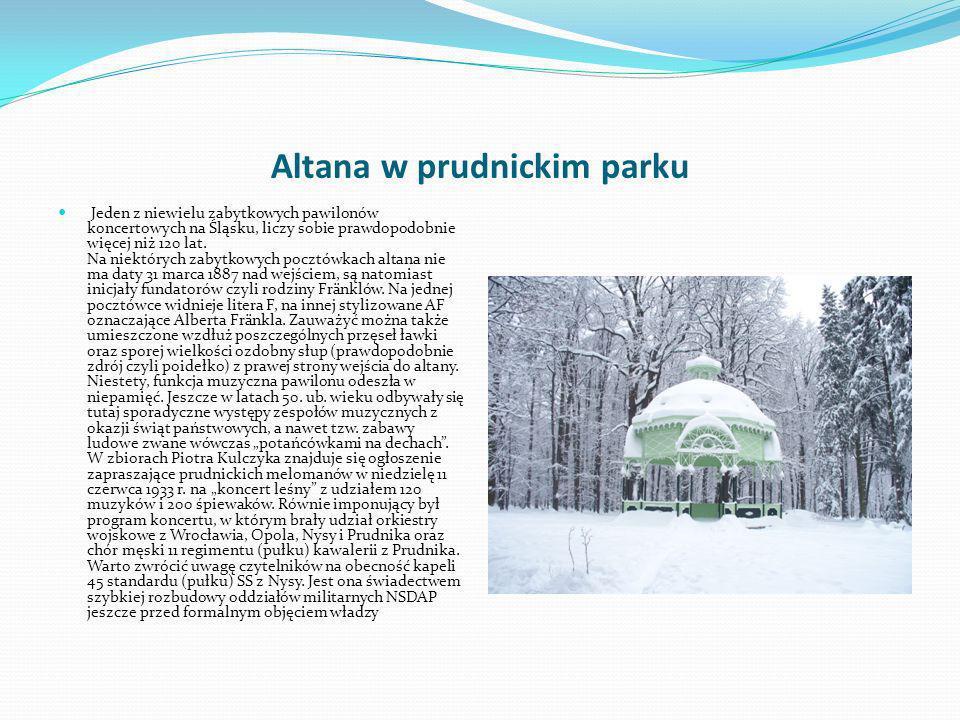 Altana w prudnickim parku