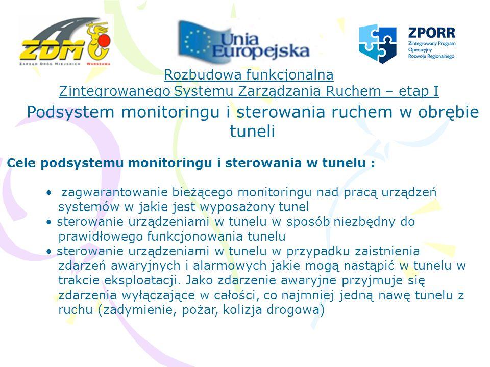 Podsystem monitoringu i sterowania ruchem w obrębie tuneli