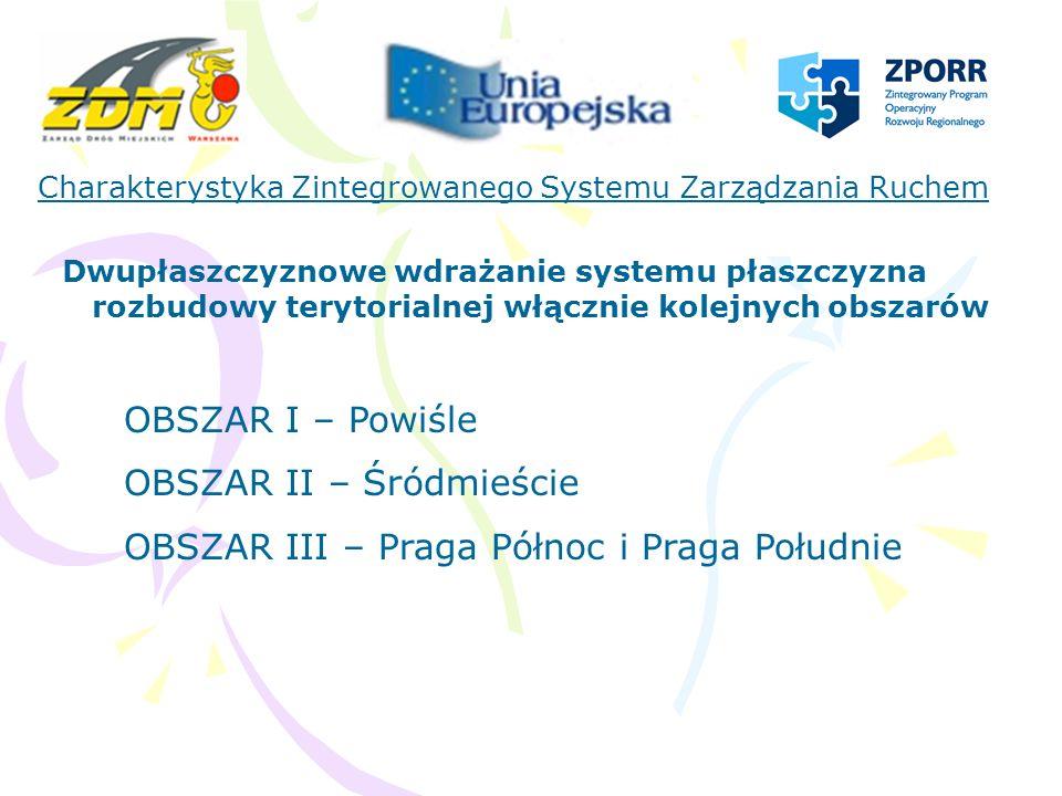 OBSZAR II – Śródmieście OBSZAR III – Praga Północ i Praga Południe