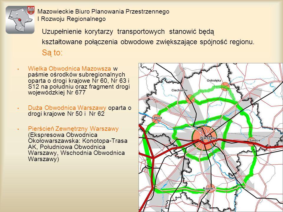 Są to: Uzupełnienie korytarzy transportowych stanowić będą