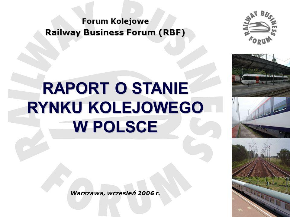 Railway Business Forum (RBF) RAPORT O STANIE RYNKU KOLEJOWEGO W POLSCE