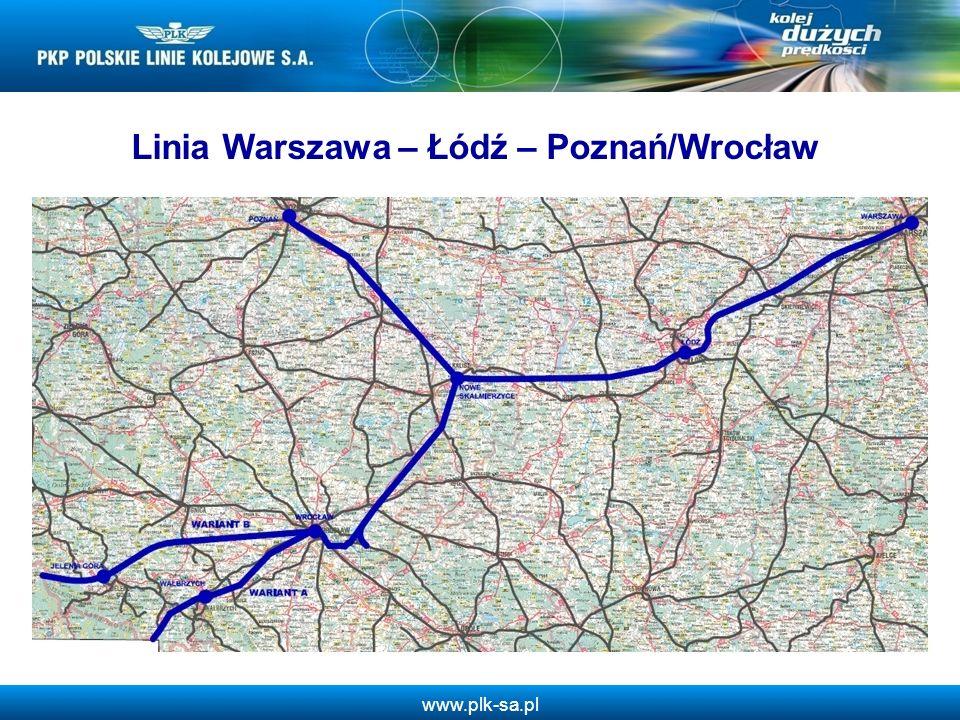 Linia Warszawa – Łódź – Poznań/Wrocław