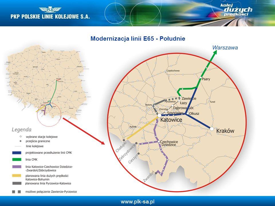Modernizacja linii E65 - Południe