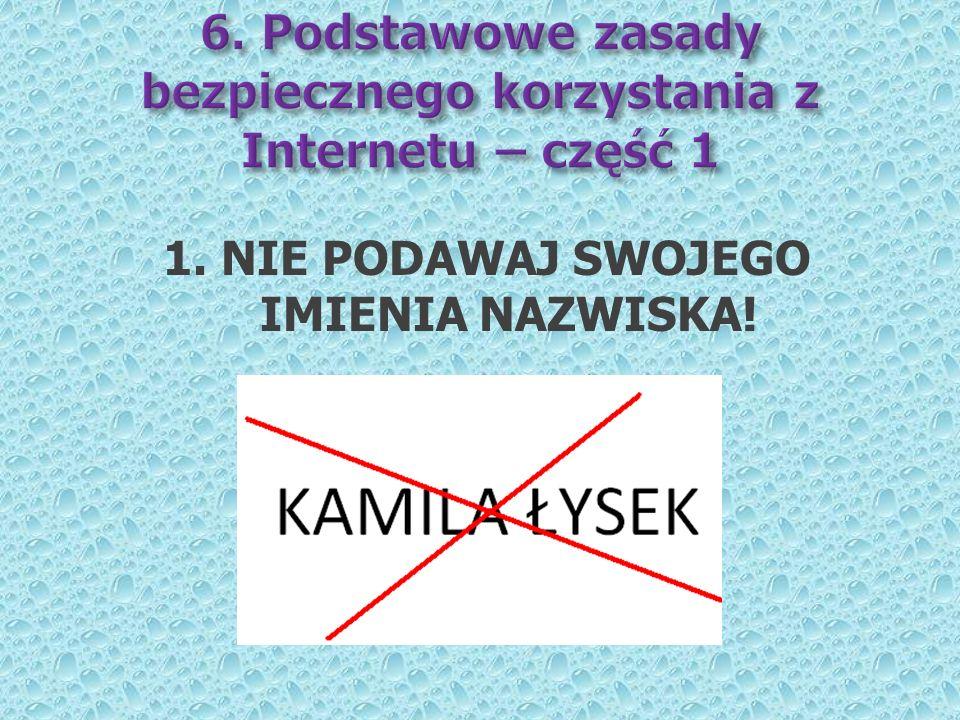 6. Podstawowe zasady bezpiecznego korzystania z Internetu – część 1