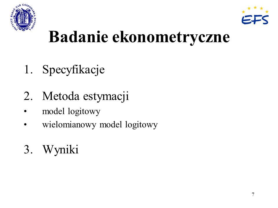 Badanie ekonometryczne