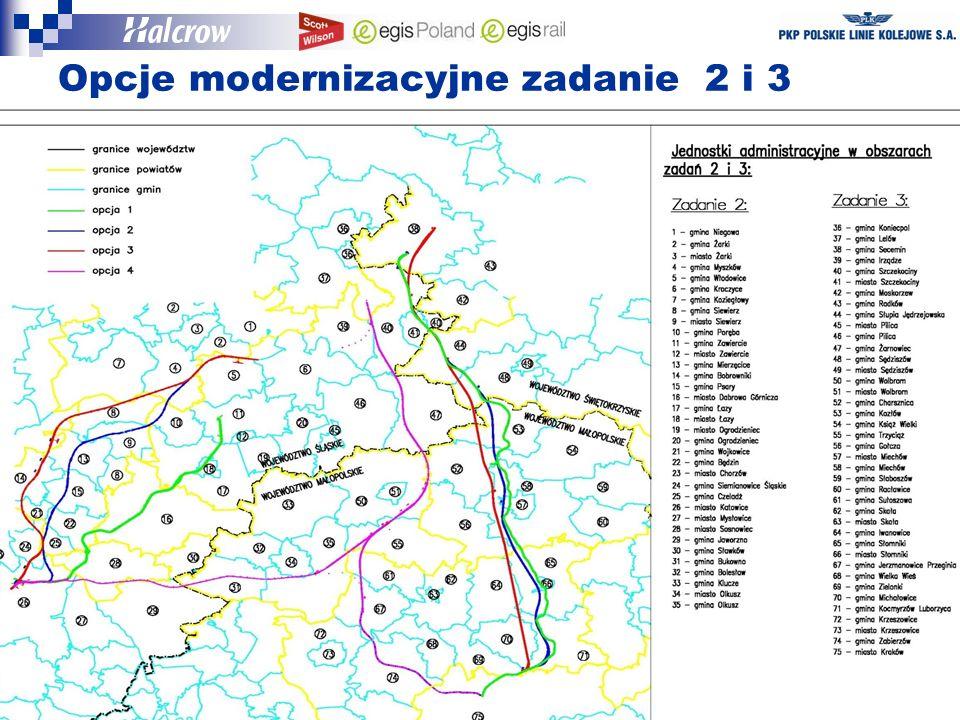 Opcje modernizacyjne zadanie 2 i 3