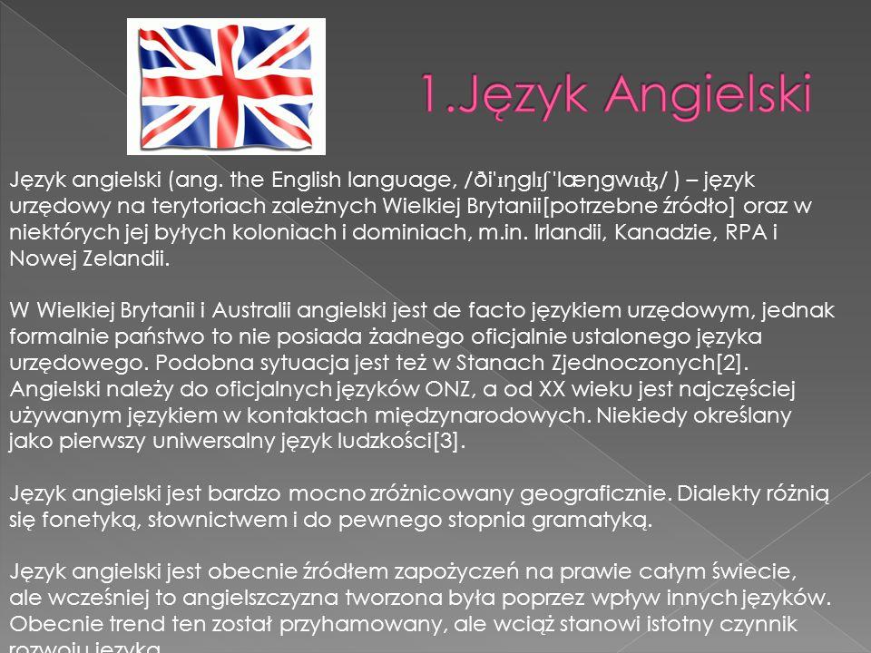 1.Język Angielski