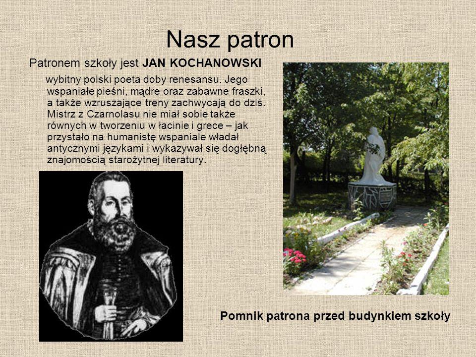 Nasz patron Patronem szkoły jest JAN KOCHANOWSKI