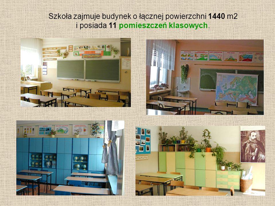 Szkoła zajmuje budynek o łącznej powierzchni 1440 m2