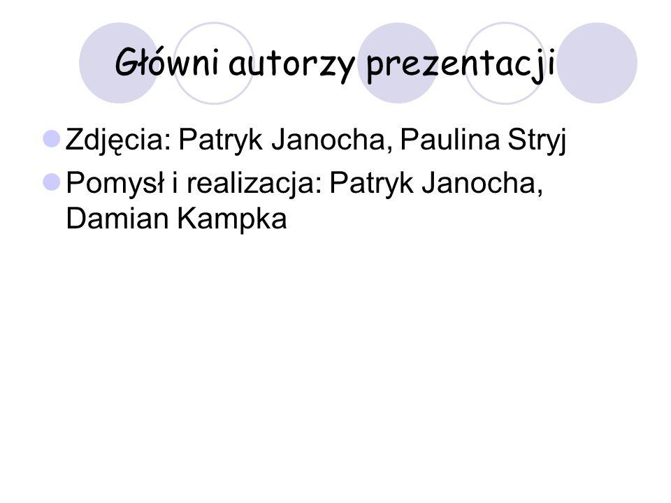 Główni autorzy prezentacji