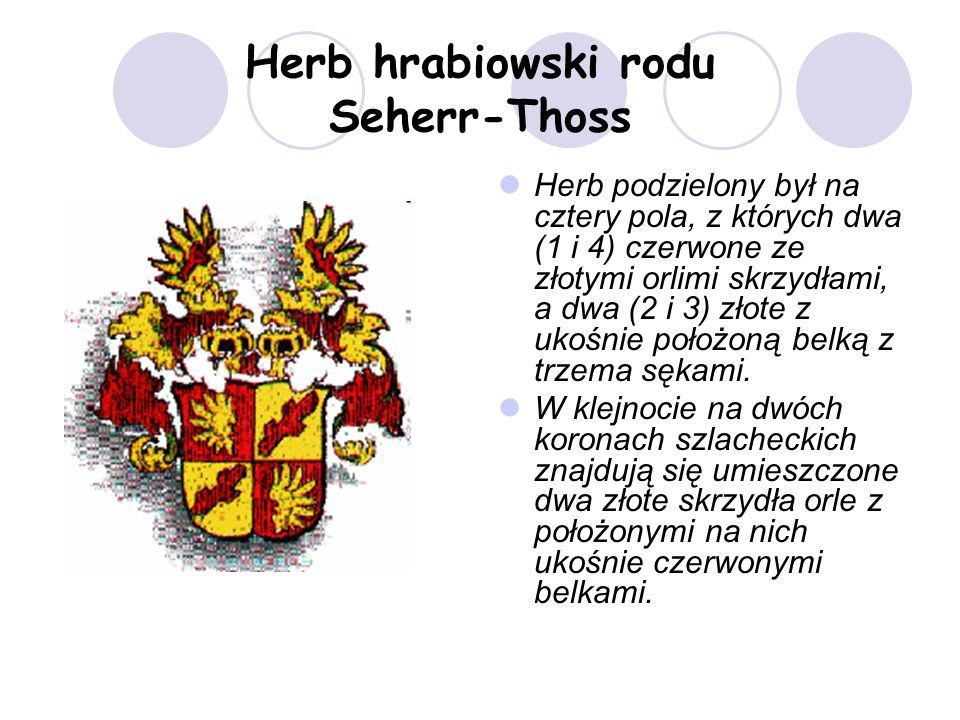 Herb hrabiowski rodu Seherr-Thoss