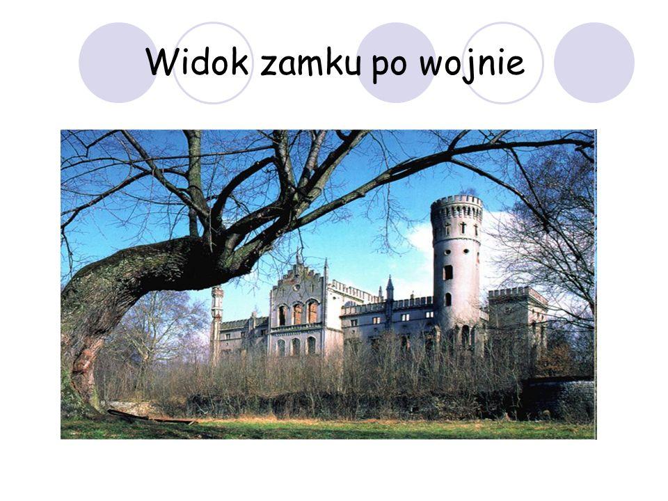 Widok zamku po wojnie