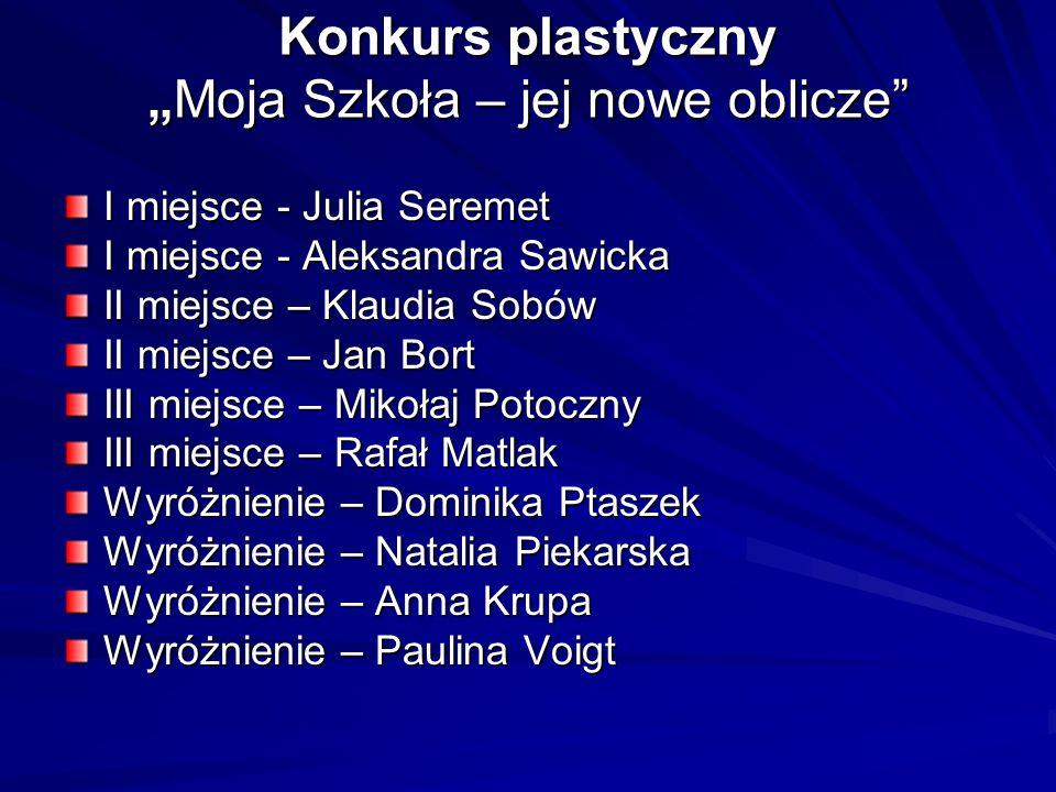 """Konkurs plastyczny """"Moja Szkoła – jej nowe oblicze"""