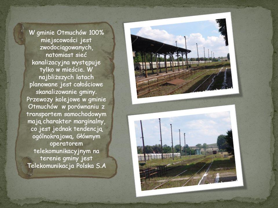 W gminie Otmuchów 100% miejscowości jest zwodociągowanych, natomiast sieć kanalizacyjna występuje tylko w mieście.