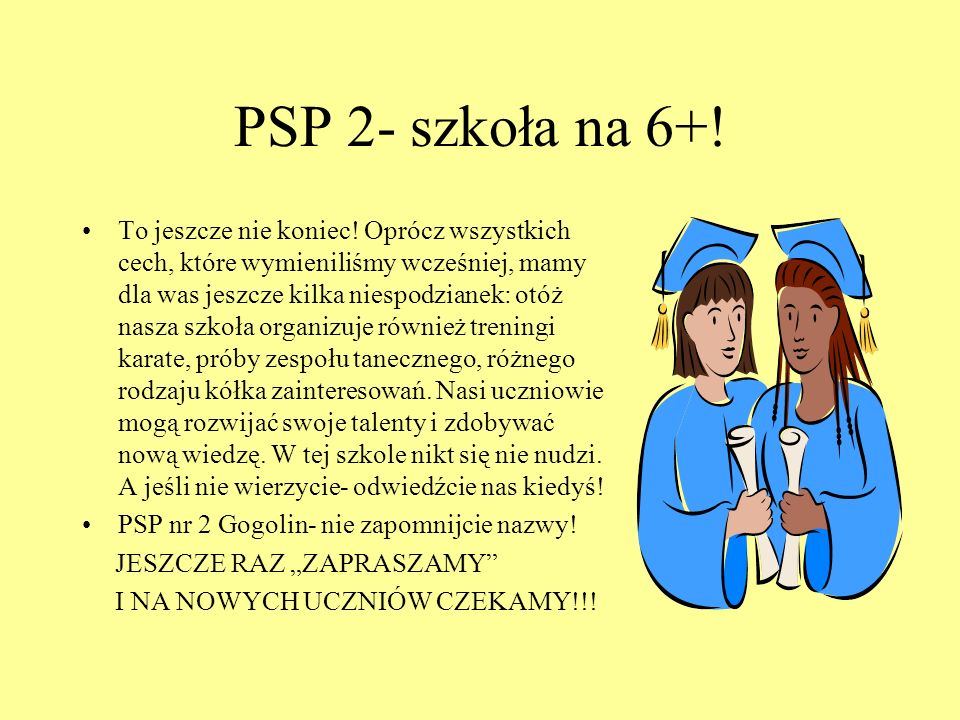 PSP 2- szkoła na 6+!
