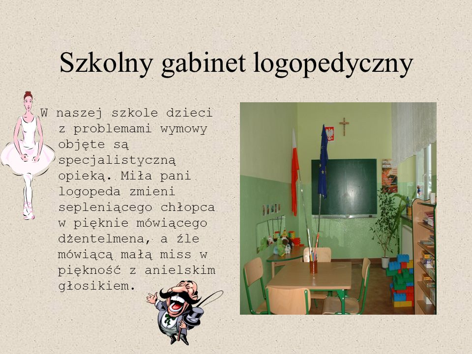 Szkolny gabinet logopedyczny