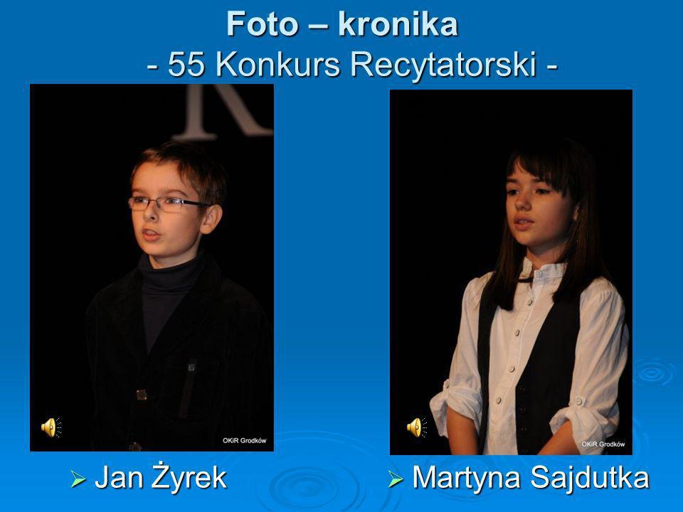 Foto – kronika - 55 Konkurs Recytatorski -