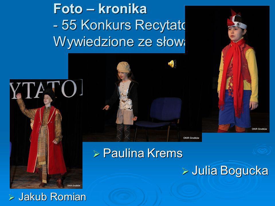 Foto – kronika - 55 Konkurs Recytatorski – Wywiedzione ze słowa