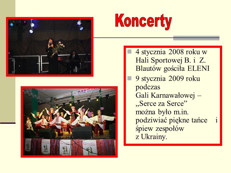 Koncerty 4 stycznia 2008 roku w Hali Sportowej B. i Z. Blautów gościła ELENI.