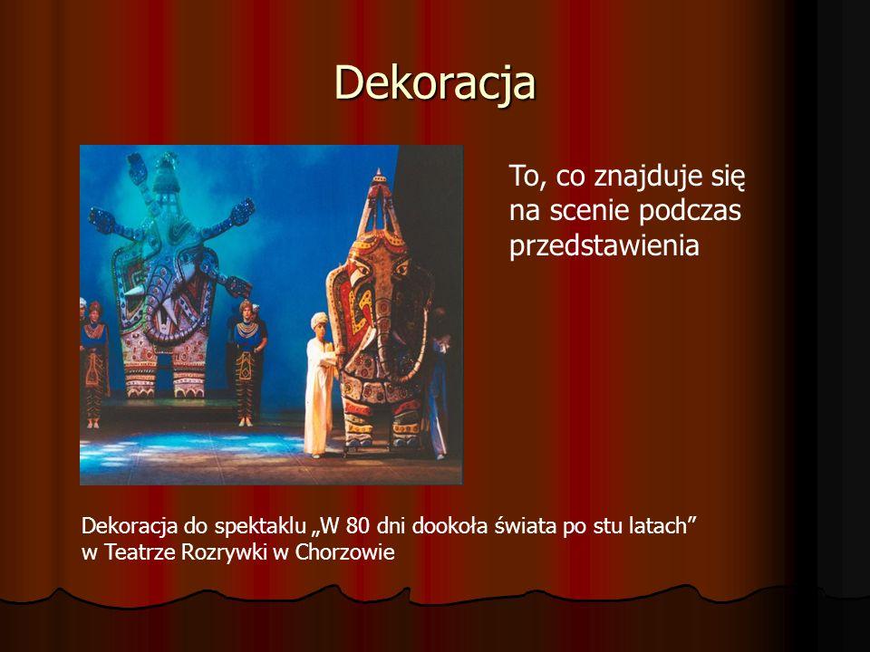 Dekoracja To, co znajduje się na scenie podczas przedstawienia