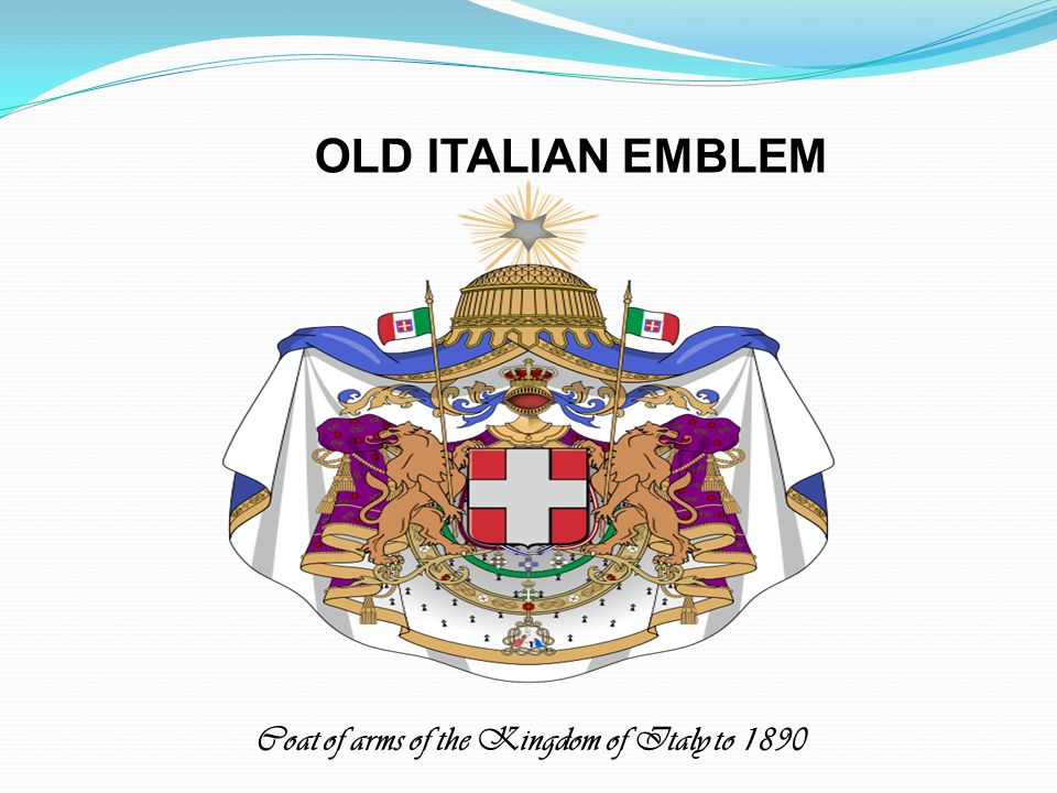 OLD ITALIAN EMBLEM Coat of arms of the Kingdom of Italy to 1890